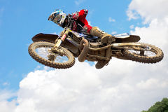Moto-X jump Stock Photography