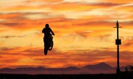 Moto x landschap Stock Foto