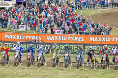 Moto - X  start line Royalty Free Stock Images
