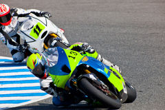 Moto2 pilot Renaud Binoche of the CEV Championship Royalty Free Stock Photo