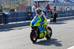 Moto2 pilot Renaud Binoche of the CEV Championship Royalty Free Stock Images