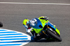 Moto2 pilot Renaud Binoche of the CEV Championship Stock Images