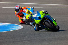 Moto2 pilot Renaud Binoche and Juan David Lopez Stock Image