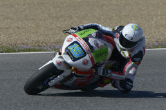 Moto2 test at Jerez racetrack - Day 2. Royalty Free Stock Photography
