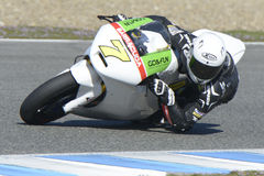 Moto2 test at Jerez racetrack - Day 2. Royalty Free Stock Image