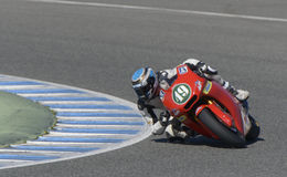 Moto2 test at Jerez racetrack - Day 2. Stock Image