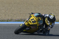 Moto2 test at Jerez racetrack - Day 2. Stock Photos