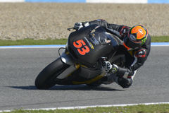Moto2 test at Jerez racetrack - Day 2. Royalty Free Stock Photo
