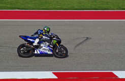 MotoAmerica-Reiter Josh Hayes Austin Texas 2015 Lizenzfreie Stockbilder