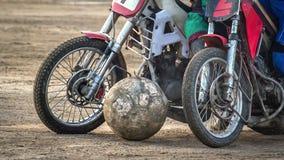 Motoball Соперничество эпизода между 2 спортсменами Стоковые Изображения