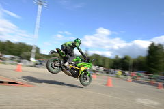 Motobayker Royalty Free Stock Images
