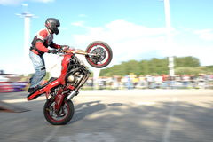 Motobayker Royalty Free Stock Photos