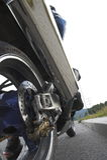 motobike ρόδα Στοκ Φωτογραφία