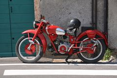 Motobike antiquato Fotografie Stock
