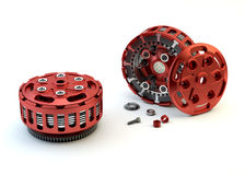 Motobike Clutch parts disassembled Royalty Free Stock Photo