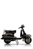 Motobike dell'annata su priorità bassa bianca Immagini Stock
