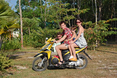 Motobike family Royalty Free Stock Photos