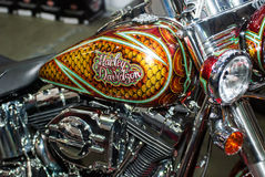 Motobike. Harley Davidson motorbike in retro style.close up.  Motobike.international exhibition of motorcycles and bicycles.Ukraine Kiev March 11 2016 year Stock Photos
