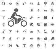 Motobike icon. Sport illustration vector set icons. Set of 48 sport icons. Motobike icon. Sport illustration vector set icons. Set of 48 sport icons Stock Photos