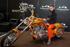 Motobike. International exhibition of motorcycles and bicycles.Ukraine Kiev March 11 2016 year Stock Image