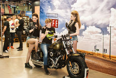 Motobike. International exhibition of motorcycles and bicycles.Ukraine Kiev March 11 2016 year Stock Images
