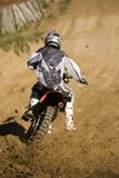 Motobike Konkurrenz-Querland Stockfotos
