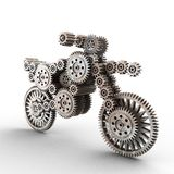 Motobike made of gears Royalty Free Stock Photos