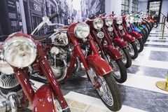 Motobike. Museum of Technology Vadim Zadorozhnogo - Russia's largest private museum of art Jawa 350 Perak-12 ss. Russia, Moscow, 24 January 2015 Stock Images