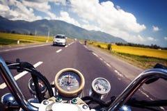 Motobike steering Royalty Free Stock Photography
