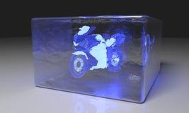 Motobike water ice, 3d  Stock Photo