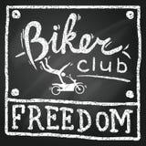 Motobikers俱乐部海报 库存例证