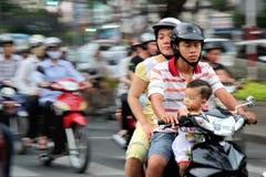 Motobikes en Vietnam Imagen de archivo libre de regalías
