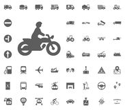 Motobyke icon. Transport and Logistics set icons. Transportation set icons.  Stock Image