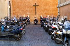 A motocicleta é transporte perigoso Fotografia de Stock Royalty Free