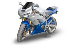 Motocicleta aislada Foto de archivo libre de regalías