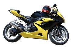 Motocicleta amarela imagens de stock