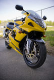 Motocicleta amarela Imagens de Stock Royalty Free
