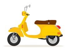 Motocicleta amarilla del vintage ilustración del vector