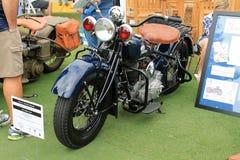 Motocicleta americana de la policía del vintage Imagen de archivo