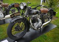 Motocicleta antigua, moto del vintage foto de archivo