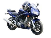 Motocicleta azul marino. Foto de archivo libre de regalías