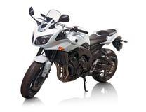 Motocicleta blanca fotos de archivo