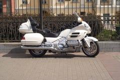 Motocicleta blanca Fotografía de archivo