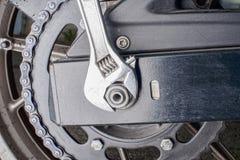 Motocicleta chain da transmissão Fotos de Stock