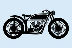 Motocicleta clásica Imagen de archivo libre de regalías