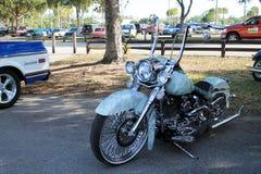 Motocicleta clásico diseñada Imágenes de archivo libres de regalías