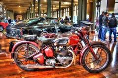 Motocicleta clássica de Triumph do inglês dos anos 40 Imagem de Stock Royalty Free