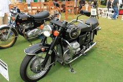 Motocicleta clássica do guzzi do moto dos anos 70 Fotos de Stock Royalty Free