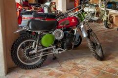 Motocicleta clássica do vintage Fotografia de Stock Royalty Free