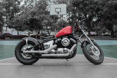 A motocicleta, com componentes projetou bonito imagens de stock royalty free